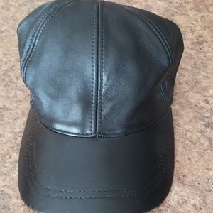 Stefeno leather ball cap